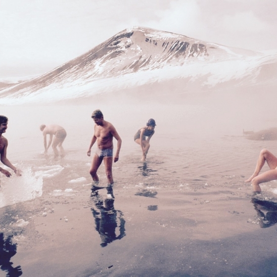 A Bath in Deception Island